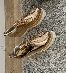 Rosegold platform cipő
