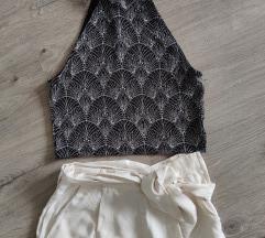 Jacquard szövésű paper bag nadrág