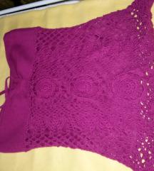 Padlizsán lila csőtop nyakba köthető