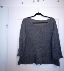 Csipke mintás, kétrétegű női pulóver
