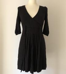 Zara puha tapintású ruha fekete M-es
