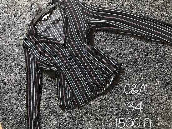 C&A Csíkos, fekete ing