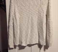 Mango M-es fehér kötött pulóver