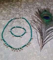Türkiz zöld fehér szett