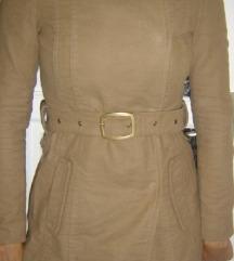 Barna öves karcsúsított hosszított kabát S 36