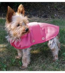 Rózsaszín, divatos bélelt kutyakabátka XS-es