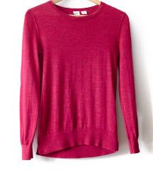 Gap rózsaszín pulcsi, 100% Merinó gyapjú S-es