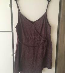 H&M bordó nyári ruha megkötős pántos L-XL 44-46