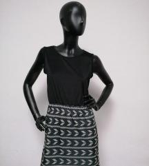 Fekete mintás 2in1 ruha