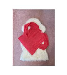 RESERVED pink kötött pulóver
