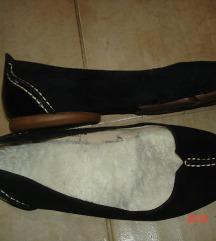 CLARKS velurbőr és lakkos balerina cipő,38