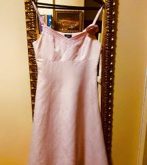 Mexx rózsaszín len ruha 38