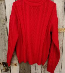 Piros kötött pulcsi NEM cserélem