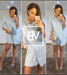 Blue velvet babakék kis ruha