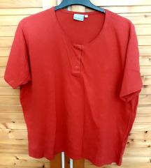 Elől gombos póló élénk piros színű