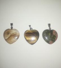 Szív alakú kristály medálok