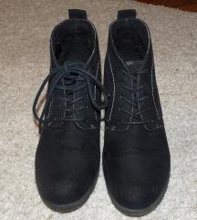 Fekete fűzős bokacipő