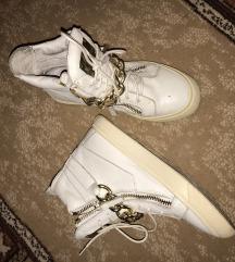 Fehér arany láncos tornacipő 38