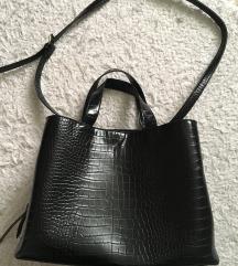 Fekete műbőr Stradivarius táska