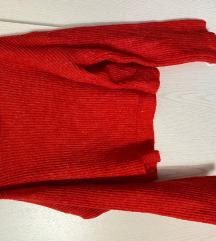 H&M Divided piros cropped kötött pulcsi