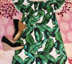 Trópusi mintás ruha