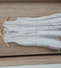 Reserved fehér fodros ruha 34/36