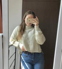 Gyönyörű törtfehér pulóver ÚJ