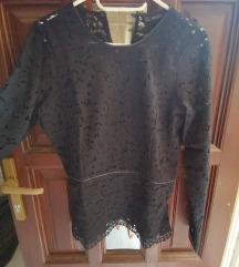Zara fekete csipke blúz