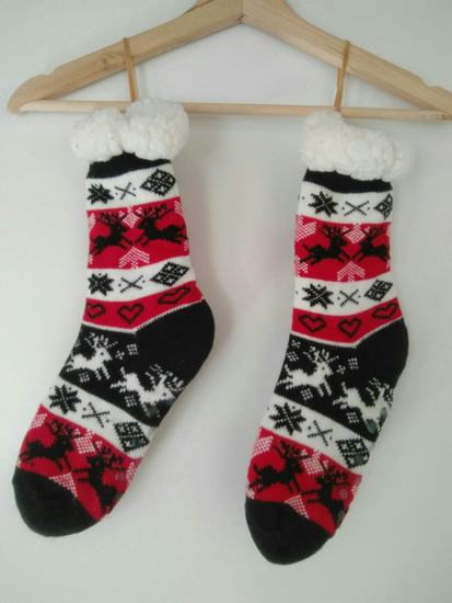Karácsonyi vastag wellness zokni