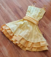 Sárga koktélruha