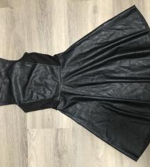 Bőrhatású  A-vonalú ruha