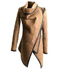 Átlapolós őszi kabát, dzseki XL-es, bézs