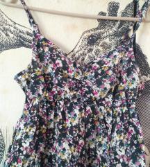 Virágos, fodros kánikula ruha 34/xs