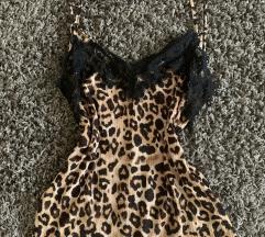 Zara leopárd csipke felső szexi pántos