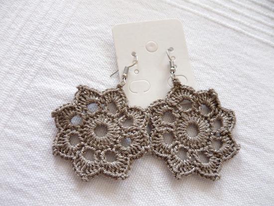 ✿ Újsz. romantikus boho virág -mandala fülbevaló