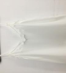 Zara fehér pántos csipkés blúz