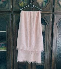 Hatalmas rózsaszín sál