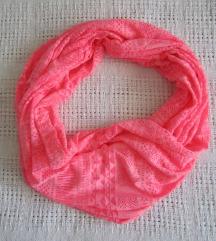 rózsaszín azték C&A csősál vékony