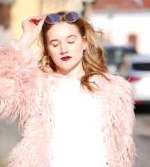 Pink műszőrme kabát