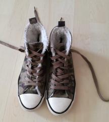 military mintás bundás magasszárú tornacipő