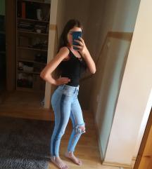 Új Bershka High Waist Ripped Skinny Jeans