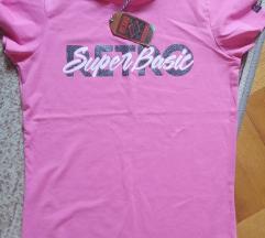 Retro jeans rózsaszín póló S- ÚJ