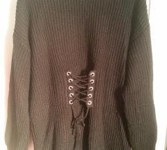 Primark fűzős kötött pulóver M