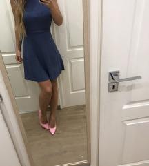 Zara kék őszi vékony kötött ruha