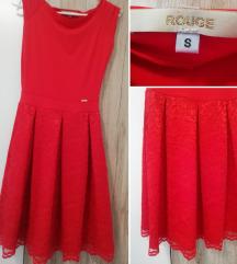 Rouge csipke szoknyás ruha /menyecskeruha