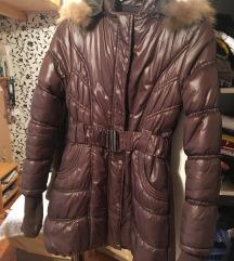 barna meleg téli kabát
