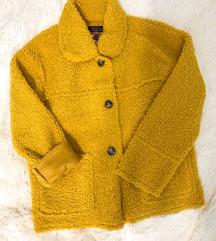 Új mustár sárga irha kabát eladó