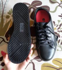 Címkés fekete bőr cipő (38)
