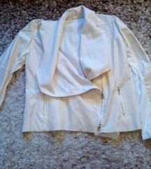 Új krémfehér/fehér műbőr dzseki-