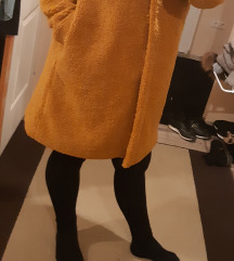 Zara L teddy kabát,új